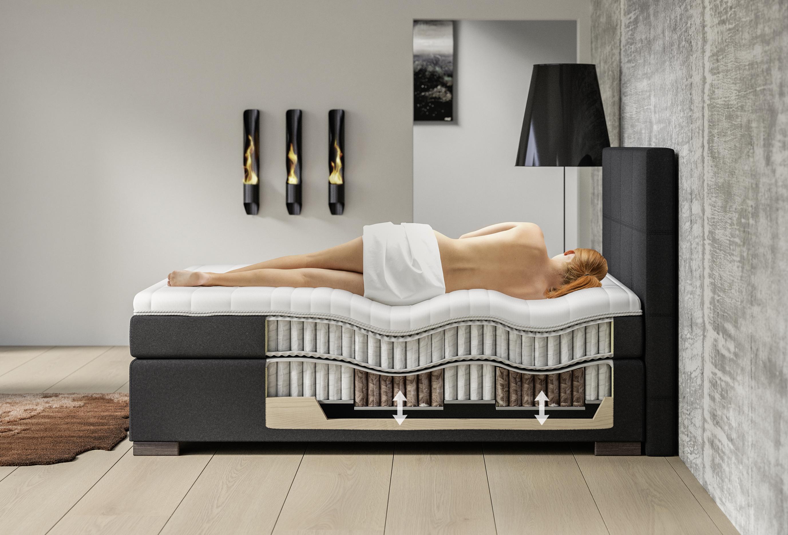 doc eos boxspring bett ergo mit einstellbarer schulter ges zone. Black Bedroom Furniture Sets. Home Design Ideas